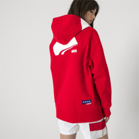 Thumbnail 7 of PUMA x ADER ERROR Full Zip Hoodie, Puma Red, medium