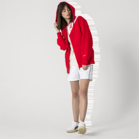 Thumbnail 8 of PUMA x ADER ERROR Full Zip Hoodie, Puma Red, medium