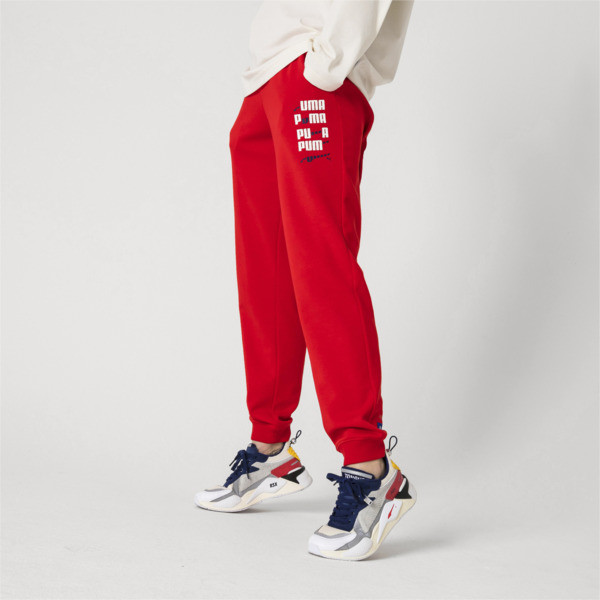 PUMA x ADER ERROR Knitted Sweatpants, Puma Red, large