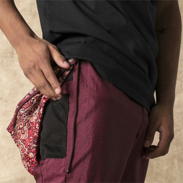 PUMA x LES BENJAMINS Men's Track Pants, Burgundy, large