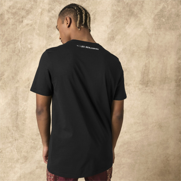 Męska koszulka PUMA x LES BENJAMINS, Puma Black, obszerny