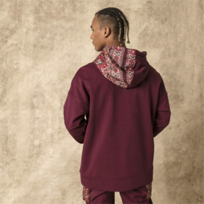Thumbnail 3 of PUMA x LES BENJAMINS Hoodie, Burgundy, medium