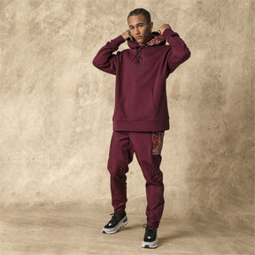 Thumbnail 5 of PUMA x LES BENJAMINS Hoodie, Burgundy, medium