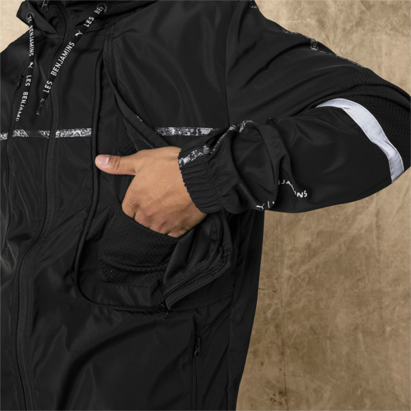 PUMA x LES BENJAMINS Men's Windbreaker, Puma Black, large