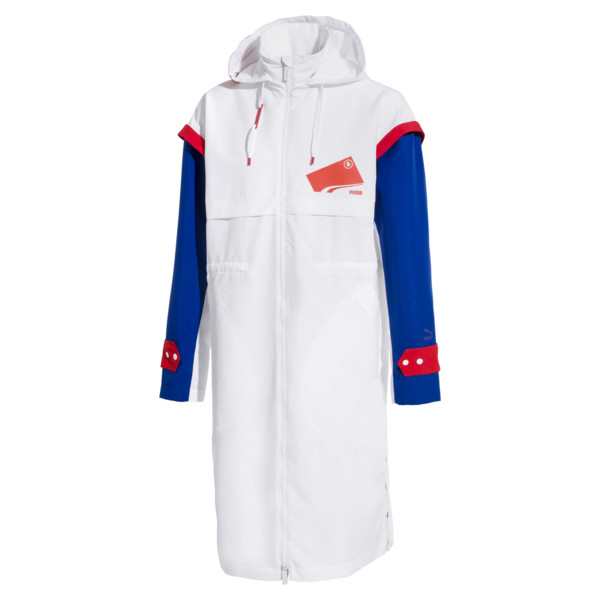 PUMA x ADER ERROR Full Zip Hooded Parka, Puma White, large