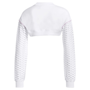 Thumbnail 4 of PUMA x SOPHIA WEBSTER Long Sleeve Cropped Women's Top, Puma White, medium