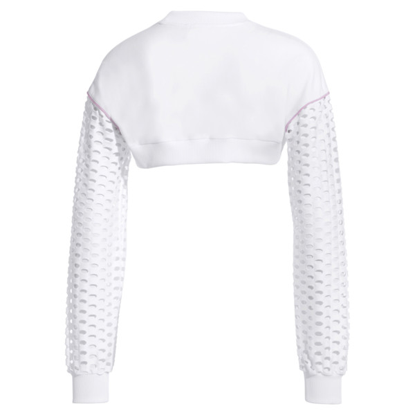 PUMA x SOPHIA WEBSTER Long Sleeve Cropped Women's Top, Puma White, large
