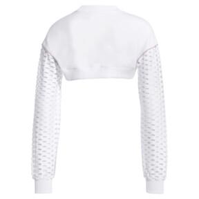 Thumbnail 4 of PUMA x SOPHIA WEBSTER Women's Cropped Crewneck Sweatshirt, Puma White, medium