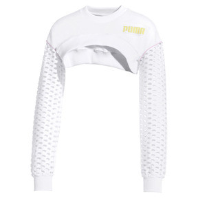 Thumbnail 1 of PUMA x SOPHIA WEBSTER Long Sleeve Cropped Women's Top, Puma White, medium