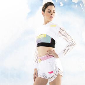 Thumbnail 1 of PUMA x SOPHIA WEBSTER Long Sleeve Cropped Women's Top, Puma White, medium