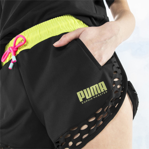 PUMA x SOPHIA WEBSTER Women's Shorts, Puma Black, large
