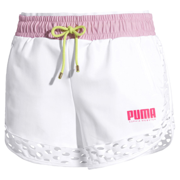 PUMA x SOPHIA WEBSTER Women's Shorts, Puma White, large