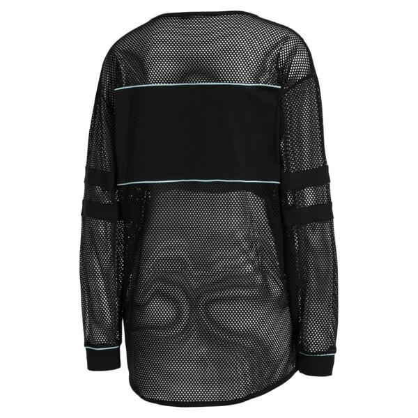 PUMA x SOPHIA WEBSTER Women's Long Sleeve Mesh Top, Puma Black, large