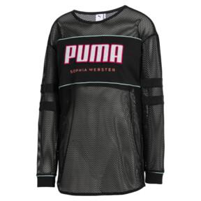 Thumbnail 5 of PUMA x SOPHIA WEBSTER Women's Long Sleeve Mesh Top, Puma Black, medium