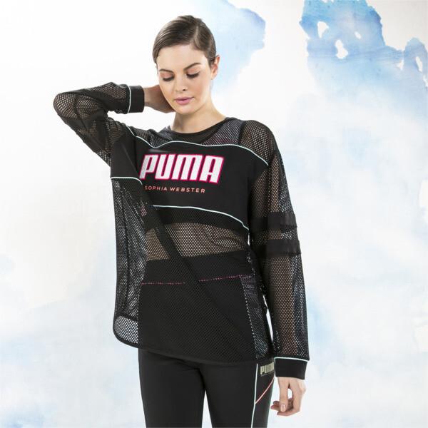 PUMA x SOPHIA WEBSTER Longsleeve Tee, Puma Black, large