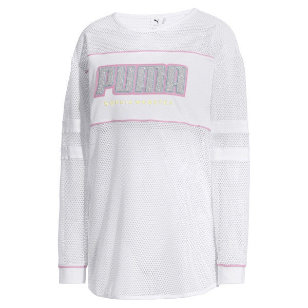 PUMA x SOPHIA WEBSTER Damen Langarm-Shirt, Puma White, large