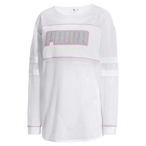 Miniatura 5 de Camiseta de malla de manga largaPUMA x SOPHIA WEBSTER para mujer, Puma White, mediano