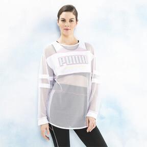 Miniatura 1 de Camiseta de malla de manga largaPUMA x SOPHIA WEBSTER para mujer, Puma White, mediano