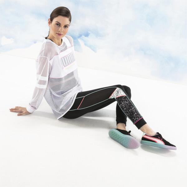 Camiseta de malla de manga largaPUMA x SOPHIA WEBSTER para mujer, Puma White, grande