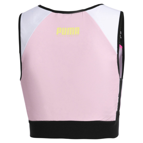 PUMA x SOPHIA WEBSTER Women's Reversible Crop Top, Puma White-AOP, large