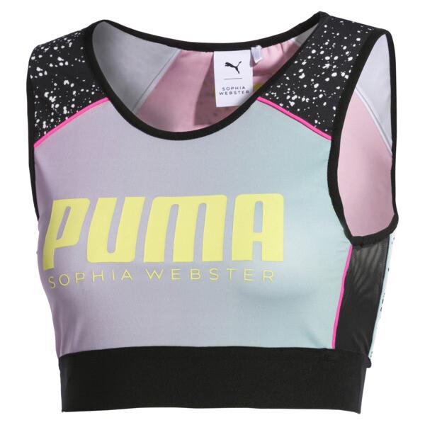 PUMA x SOPHIA WEBSTER Reversible Women's Crop Top, Puma White-AOP, large