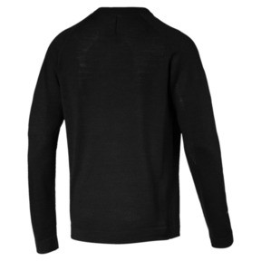 Thumbnail 2 of Porsche Design evoKNIT V-neck Men's Sweater, Jet Black, medium