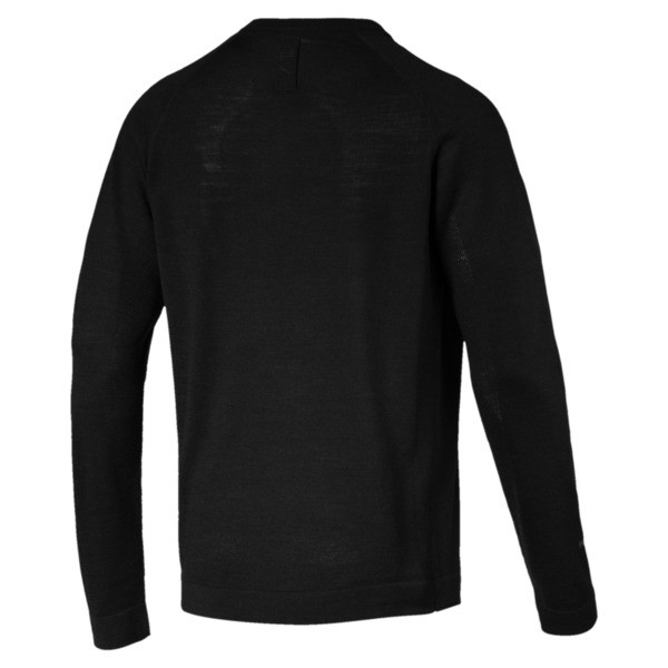 Porsche Design evoKNIT V-neck Men's Sweater, Jet Black, large