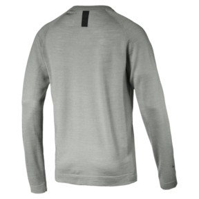 Thumbnail 2 of Porsche Design evoKNIT V-neck Men's Sweater, Limestone, medium