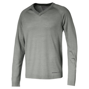Thumbnail 1 of Porsche Design evoKNIT V-neck Men's Sweater, Limestone, medium