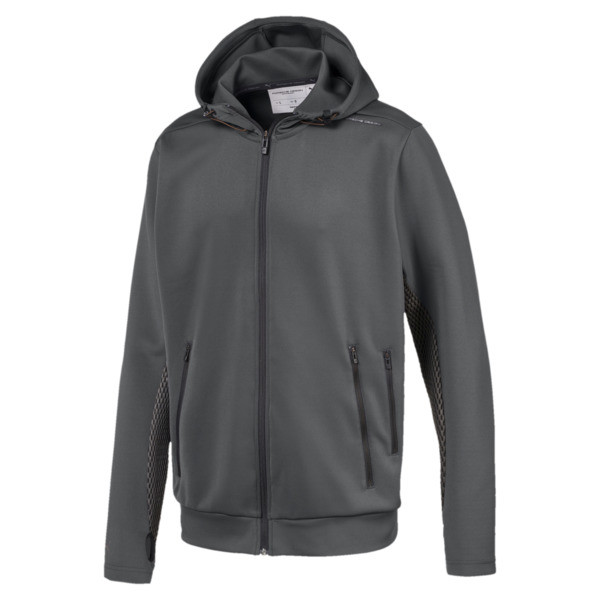 Porsche Design Hooded Men's Midlayer, Asphalt, large