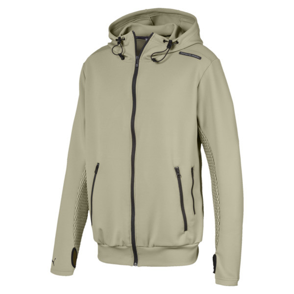 Porsche Design Men's Hooded Sweat Jacket, Elm, large