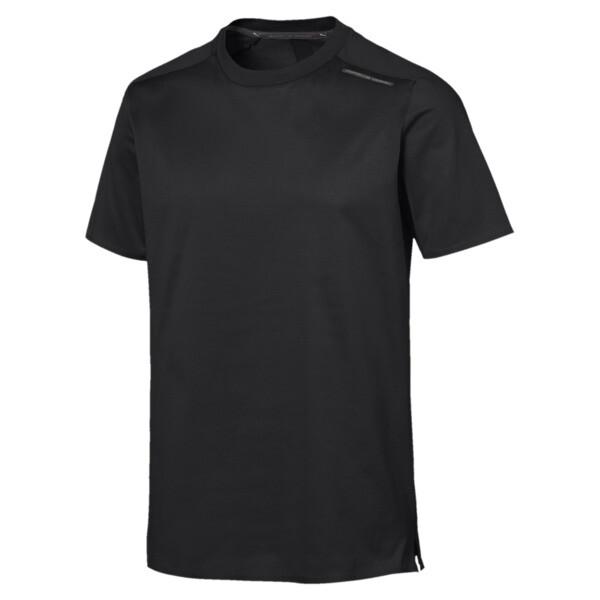 T-Shirt Porsche Design Essentials pour homme, Jet Black, large