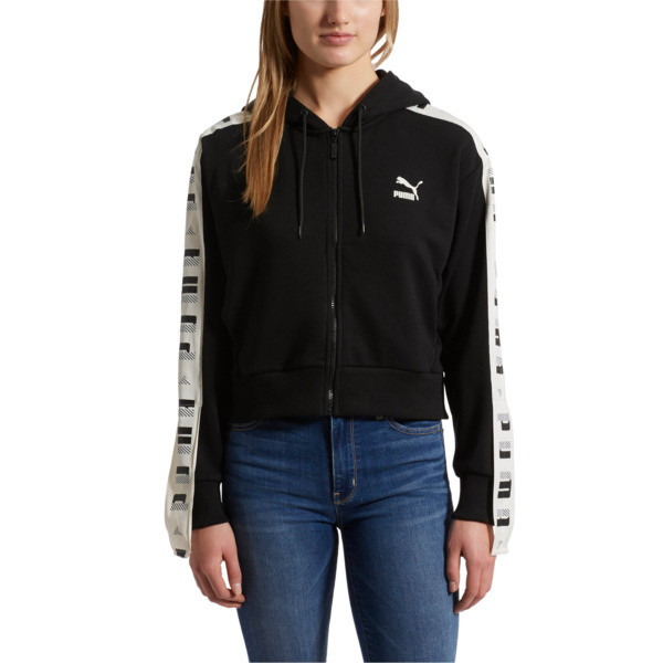 Revolt Full-Zip Hoodie Terry, Cotton Black, large