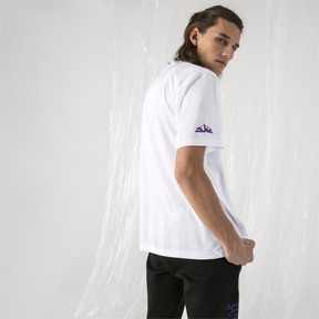 Thumbnail 3 of PUMA x SANKUANZ Striped Men's Jersey Tee, Puma White, medium