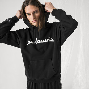 Thumbnail 2 of PUMA x SANKUANZ Hoodie, Cotton Black, medium
