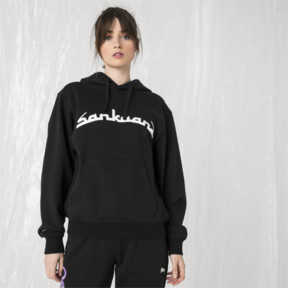 Thumbnail 6 of PUMA x SANKUANZ Hoodie, Cotton Black, medium