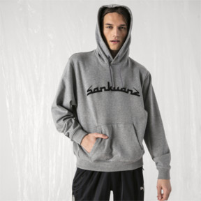 Thumbnail 2 of PUMA x SANKUANZ Hoodie, Medium Gray Heather, medium