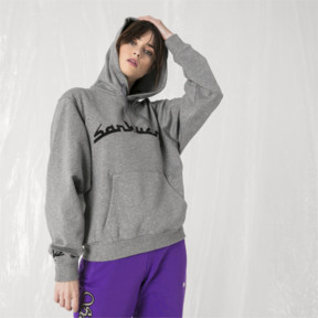 Thumbnail 6 of PUMA x SANKUANZ Hoodie, Medium Gray Heather, medium