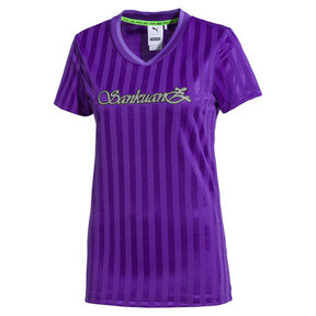Thumbnail 1 of PUMA x SANKUANZ Women's Jersey Tee, ELECTRIC PURPLE, medium