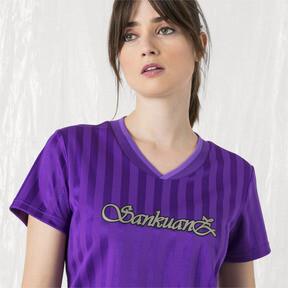 Imagen en miniatura 2 de Camiseta de mujer PUMA x SANKUANZ, ELECTRIC PURPLE, mediana