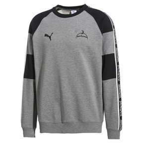 Thumbnail 1 of PUMA x SANKUANZ Crew Neck Pullover, Medium Gray Heather, medium