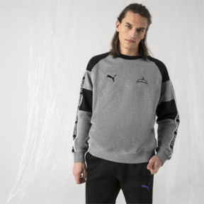 Thumbnail 2 of PUMA x SANKUANZ Crewneck Sweatshirt, Medium Gray Heather, medium