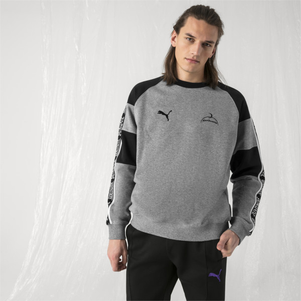 PUMA x SANKUANZ Crewneck Sweatshirt, Medium Gray Heather, large