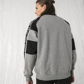 Thumbnail 3 of PUMA x SANKUANZ Crewneck Sweatshirt, Medium Gray Heather, medium