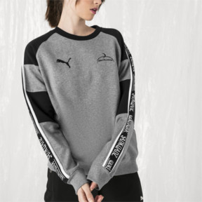 Thumbnail 6 of PUMA x SANKUANZ Crewneck Sweatshirt, Medium Gray Heather, medium