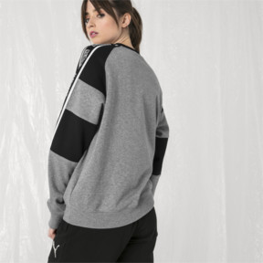 Thumbnail 7 of PUMA x SANKUANZ Crewneck Sweatshirt, Medium Gray Heather, medium
