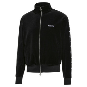 Thumbnail 1 of PUMA x THE KOOPLES Men's Velour Track Top, Puma Black, medium