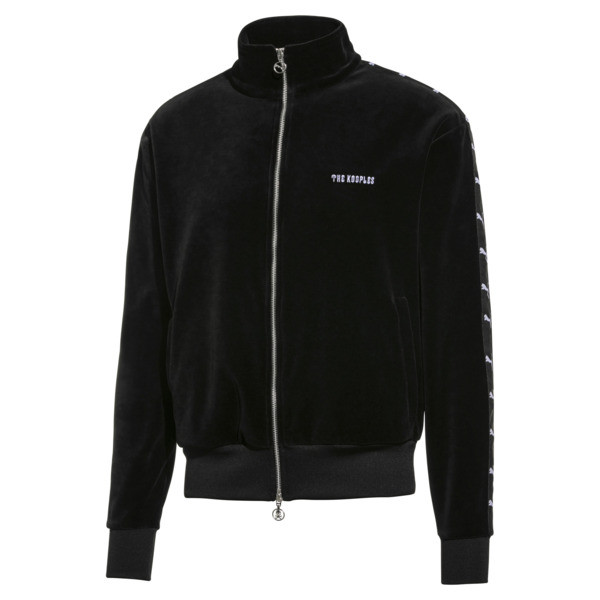 PUMA x THE KOOPLES Men's Velour Track Top, Puma Black, large
