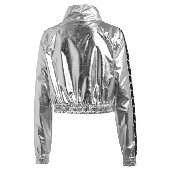 PUMA x THE KOOPLES Cropped Zip-Up Women's Track Top, Silver, large