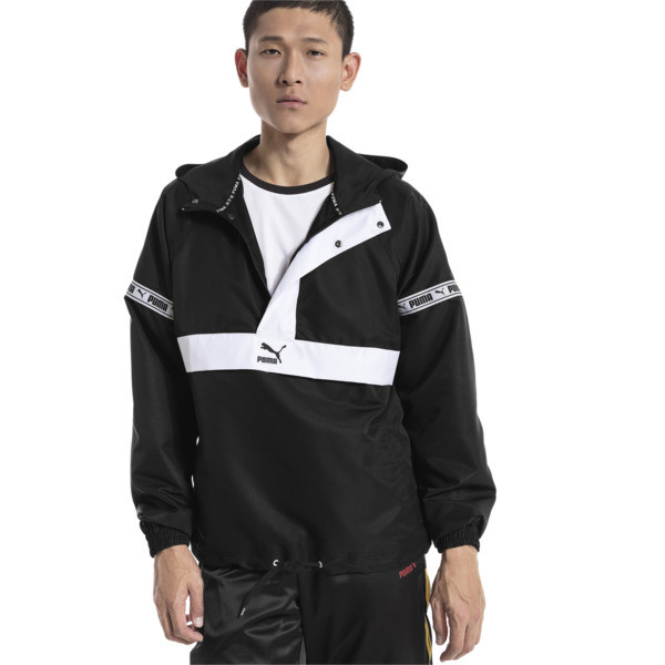 XTG Savannah Woven Men's Pullover, Puma Black-Puma white, large